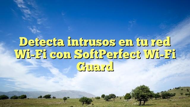 Detecta intrusos en tu red Wi-Fi con SoftPerfect Wi-Fi Guard