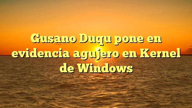 Gusano Duqu pone en evidencia agujero en Kernel de Windows